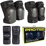 Pro-Tec Street Gear Junior 3 Pack Protecciones, Unisex niños, Negro (Black), M