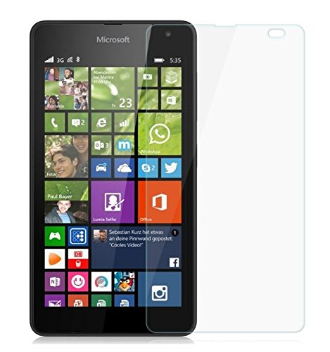 Tidel 2.5D Tempered Glass Screen Guard Protector For Microsoft Nokia Lumia 535  available at amazon for Rs.95