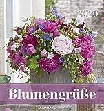 Blumengrüße 2020 - Postkartenkalender (16 x 17) - Flowers - zum aufstellen oder aufhängen - Geschenkidee - Rosen - Pflanzen - Gadget