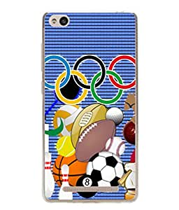 PrintVisa Designer Back Case Cover for Xiaomi Redmi 3s (Playing All Type Of Games In Olympic Fun Enjoy Football)