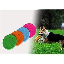 Spritech (TM)-Frisbee per cani, Frisbee denti resistenti per addestramento cani Fetch, colori assortiti