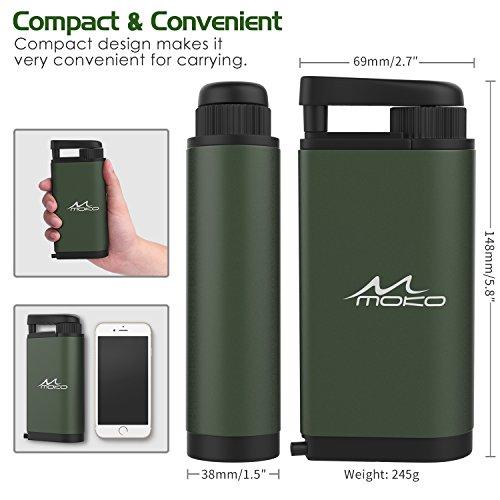 MoKo Wasserfilter Outdoor – Portable Notfall-Personal Camping - 9