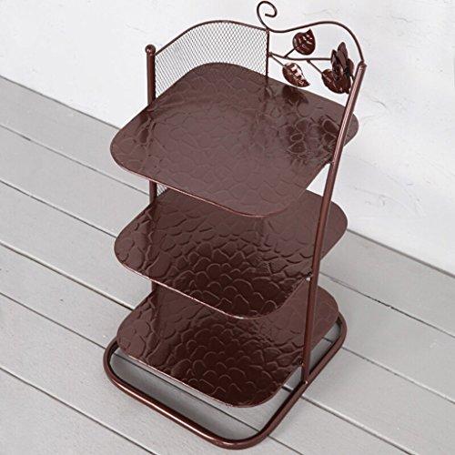 Yxsd 3/6/7 Tier-Eisen-Schuh-Racks, Speicher-Stand für Stiefel-Balkon-Eingangs-Eckeingang, stapelbares Regal 25 * 25 * 42/85/110 cm (Farbe : Bronze, größe : 6 Tier)