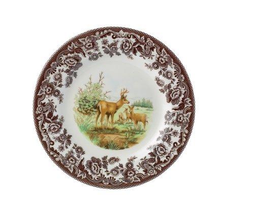 Spode Woodland Deer (Spode Woodland American Wildlife Mule Deer Salad Plate by Spode)