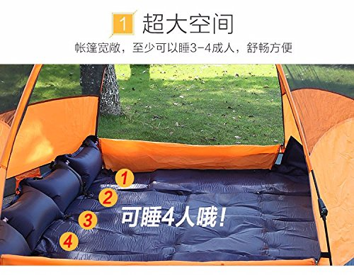 ZHUDJ Fully Automatic Tent, Outdoor 3-4 People, 5-8 People, Multiplayer,  Tents, Camping, Picnic, Rainproof,Orange - Buy Online in Oman.   Misc. e16b285b68e3