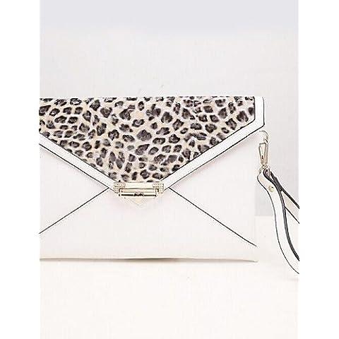 Da Wu Jia Ladies borsetta di alta qualità delle donne di lusso in pelle di brevetto Casual / evento/parte / frizione esterno - Animale Stampa , leopard