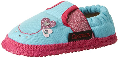 Giesswein Appenheim, Chaussons courts, non doublées fille Bleu (Jeansblau)