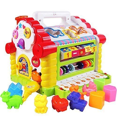 Cable World® Amazing Learning House - Baby Birthday Gift for 1 2 3 Year Old Boy Girl Child, Multi Color