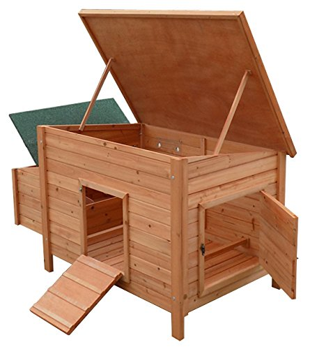 hen-house-chicken-coop-large-3-berth-poultry-luxury-home-nest-run-coup-new
