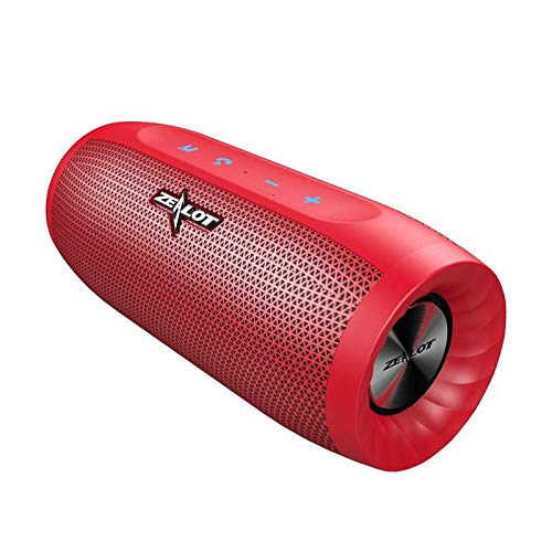 Zealot S16 HiFi Portable Bluetooth Speaker Dual Units 4000mAh Outdoors  Waterproof TF Card Soundbar - Red