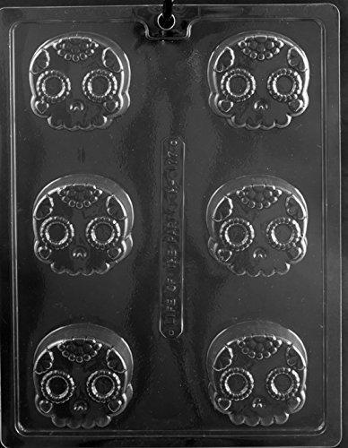 Tête de mort décoratifs Cookie Halloween Oreo fête Chocolat Savon Moule Moule navires Jour même M313