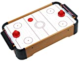 Homeware Battery Operated Wooden Mini Table Top Air Hockey Game Set, 21'