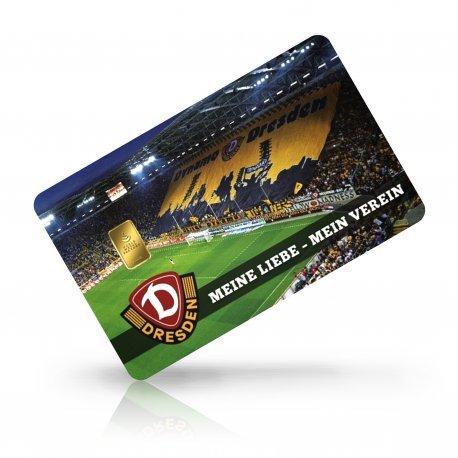 Limitierte Motivkarte Dynamo Dresden - Gold, 1 Gramm