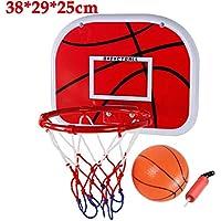 Dedeka Canasta Aro de Baloncesto con Baloncesto y Tubo Inflable,34 cm/38 cm de diámetro colgado en la Pared Baloncesto Aro de aro Anillo con Tornillos de Red Juguetes Deportivos