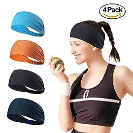 96785a12d180b7 Mylego Sport-Stirnband Nicht rutschende Sportschweißbänder  Feuchtigkeitsabführende Kopfbedeckung Stirnbänder Perfekt für Radfahren,  Laufen,