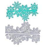 VINFUTUR 2 pz Fustelle Natale Fiocchi di Neve Stencil Cutting Dies per Fai da Te Album di Carta Biglietti Scrapbooking