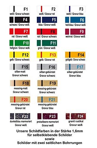 Selbstklebendes Namensschild aus Kunststoff - 3