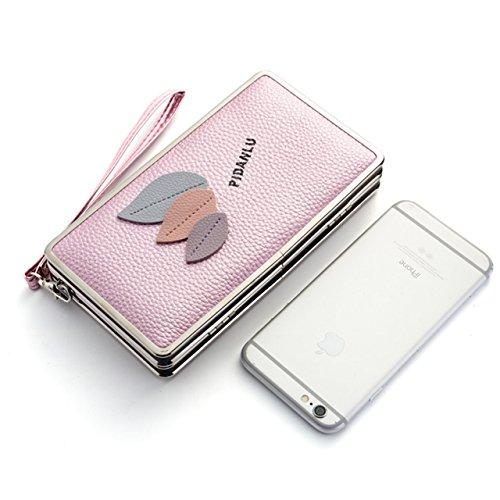 Portafogli da Donna Borsa con Foglia d'albero, Sunroyal Multifunzionale [Grande capacità] Smartphone Wristlet Custodia Case Cover per Samsung Galaxy S8/S8 Plus/S7edge/S7/S6/S6 Edge/S6 Edge Plus/S5/S5  Modello 14