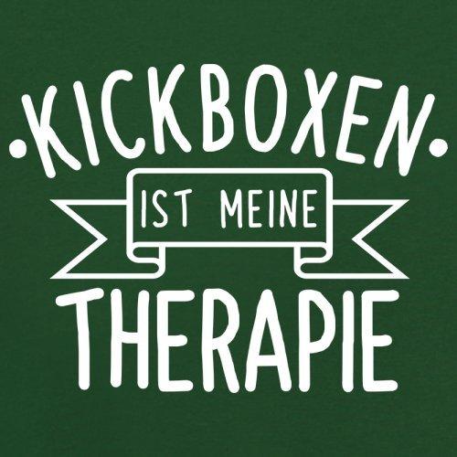 Kickboxen ist meine Therapie - Herren T-Shirt - 13 Farben Flaschengrün