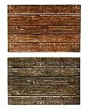 Bada Bing 6er Set Tischset zweifarbig Holz Optik Planken