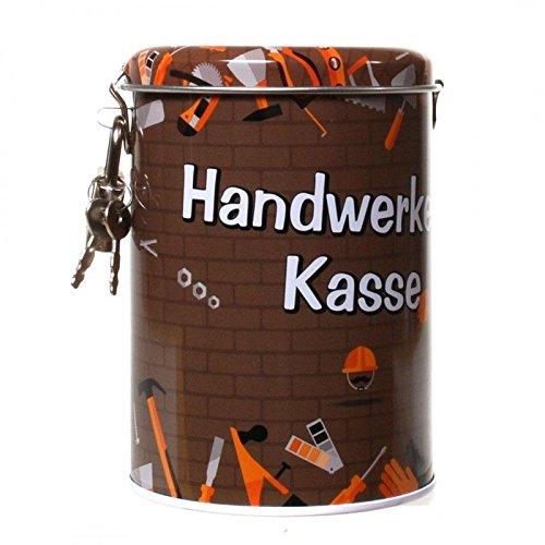 Spardose Handwerker Kasse Sparschwein Metall Schloß -