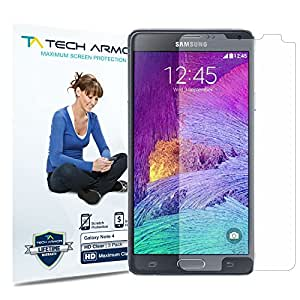 Tech Armor HD Clear Screen Protector for Samsung Galaxy Note 4 (Pack of 3)