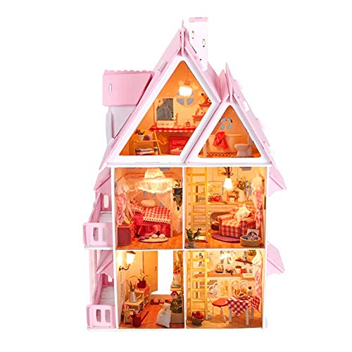 Luoluoluo case delle bambole portatile - casa delle bambole in legno kaylee per bambole -regali di natale