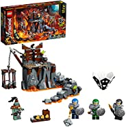 LEGO NINJAGO Journey to the Skull Dungeons 71717 building set and board game with 4 minifigures, Toy for kids