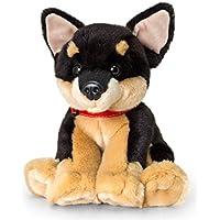 Peluche chien Signature Puppies Chihuahua, assis env. 35cm en kit avec Beurre pour le corps Cerise–Cassis, 7ml