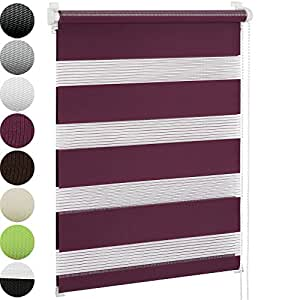 jago doppelrollo seitenzugrollo klemmrollo in verschiedenen farben gr en seitenzugrollo inkl. Black Bedroom Furniture Sets. Home Design Ideas