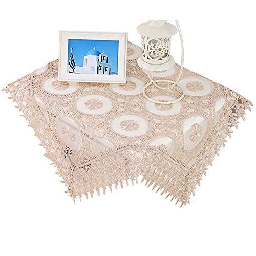 Efanty Spitzen Tischdecke mit Stickerei, Platz Tablecloth für Hotels Kaffeetisch Dekoration...