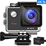 "Victure 16MP Ultra HD Action Camera 4K WIFI Sports Helmet Cam 30M/98ft Underwater Diving Waterproof Camcorder with 26 Mounted Accessories, 2""LCD Screen and 170° Wide Angle"