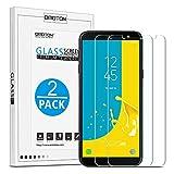 OMOTON [2 Stück] Panzerglas Schutzfolie für Samsung Galaxy J6 2018 (5,6 Zoll), 9H Härte, Anti-Kratzen, Anti-Öl, Anti-Bläschen