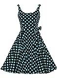 Bbonlinedress Vestidos de 1950 Estampado Vintage Retro Cóctel Rockabilly con ...