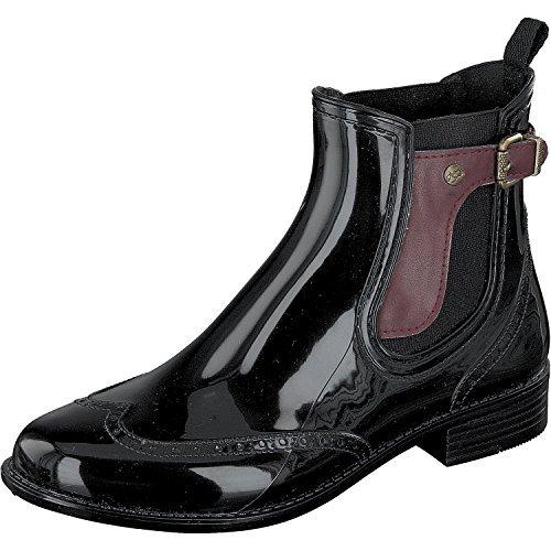 bordeaux 3 Naturkautschuk Sylt Gosch black in Gummistiefel 502 Damen Shoes Chelsea Farben 7103 qaqHUw