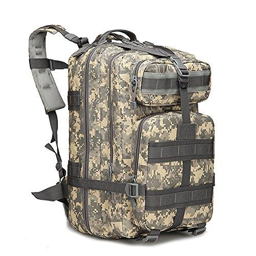tentock Outdoor Tactical Rucksack Militär Jagd Gear 3P Assault MOLLE Wasserdichter Rucksack 40L Wandern Camping Trekking-Tage-Pack camouflage grün