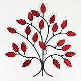 Contemporary Metal Wall Art Decor Sculpture - Fire Summer Tree Branch