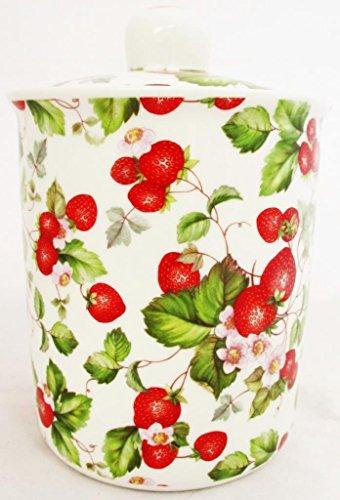 Strawberry Fields Boîte de rangement de fraises Pot en porcelaine fine de livraison gratuite au Royaume-Uni