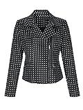 Alba Moda Damen Blazer mit Zipper Formstabil 34 by