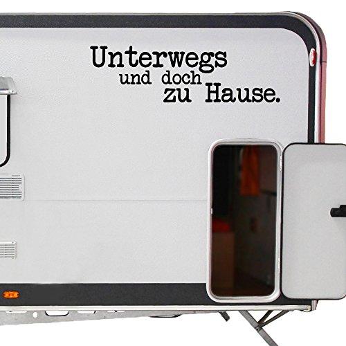 WA311 Clickzilla - Wohnmobil Aufkleber - Wohnwagen Aufkleber - Unterwegs und doch zu Hause.