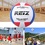 Lorenlli Fit REIZ Ballon de Volleyball Ballon d'entraînement pour compétition intérieur en Plein air Hommes Femmes Taille Officielle Poids Ballon de Volleyball Tactile