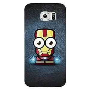 Jugaaduu Big Eyed Superheroes Iron Man Back Cover Case For Samsung S6