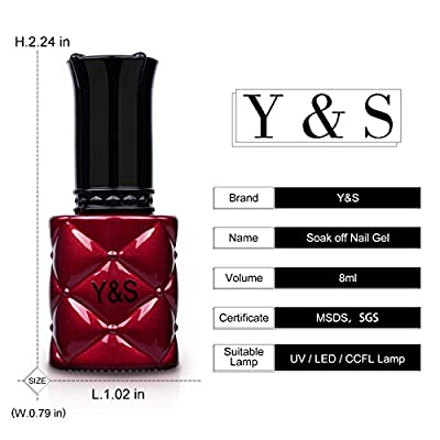 Liquid UV/LED Gel Nail Polish - Y&S Soak Off Glitter Gel Polish Nail Salon Art Home Use Manicure Varnish 8ml