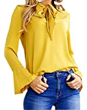 Smile Fish - Camicia - Maniche lunghe  -  donna Yellow M