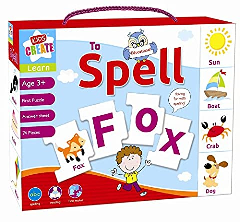 Learn To Spell Childrens Educational Learning Puzzle Jigsaw Mix & Match Game.