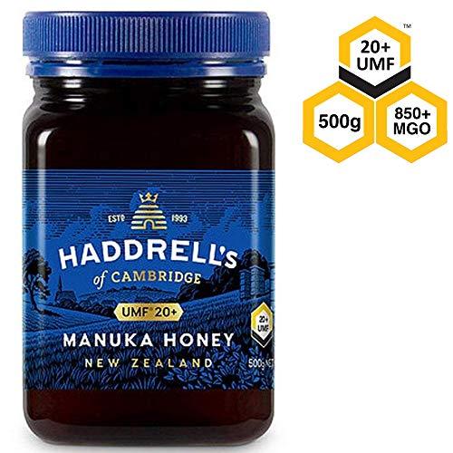 Haddrell's of Cambridge   UMF 20 Manuka Honey   Natural Premium New Zealand Manuka Honey   500 Grams (Manuka-honig Umf 20)