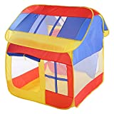 LINAG Kinderzelt Spielhaus Schloss Burg Spielzelt Pop-Up Einfaches Falten Drinnen Draußen Mädchen Spiele Jungs Geschenk Klettern Spielzeug Haus Spiele Vortäuschen