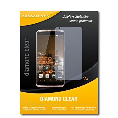 SWIDO 2 x Bildschirmschutzfolie ZTE Axon Mini Premium Edition Schutzfolie Folie DiamondClear unsichtbar
