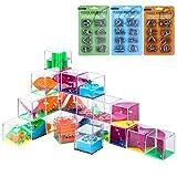 Touchmark 3D IQ Puzzle 48tlg, Kugel-Geduldspiele, Metallpuzzle Knobelspiel Metall Knobel Geduldspiel Set für Erwachsene Kinder