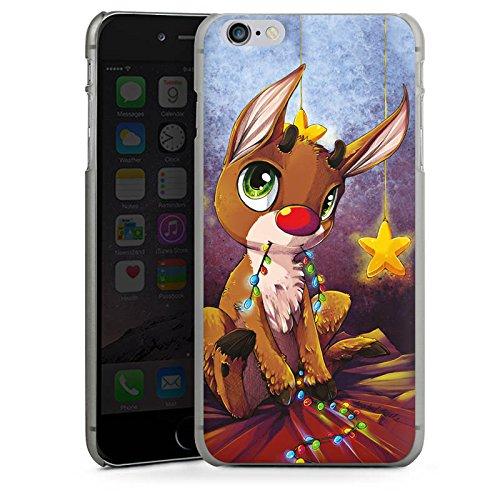 Apple iPhone X Silikon Hülle Case Schutzhülle Rentier Rudolf Weihnachten Hard Case anthrazit-klar